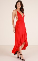 Colour Me In maxi dress in red