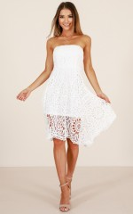 Coastal Scent dress in white crochet
