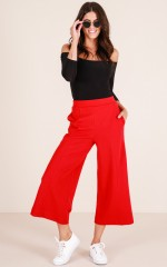 Determination pants in red