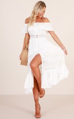 Something Sweet About You maxi dress in white