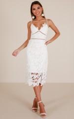 Forever And Always dress in white crochet