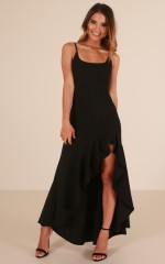 Dance Til Dawn maxi dress in black