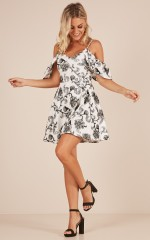 Tomorrow Can Wait dress in white floral