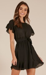 Into Your Arms dress in black