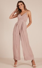 Your Times Up jumpsuit in mocha