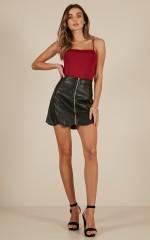 Turn It Up skirt in Black
