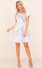 Lose My Breath Dress in Blue Floral