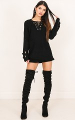 Loving Me knit dress in black