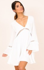 Burn Your Name dress in white