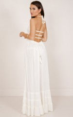 All Great Ideas maxi dress in cream