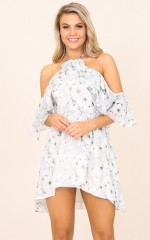 Heaven Sent dress in blue floral