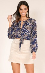 Best Decision top in navy floral