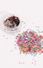 Confetti Sparkles in rainbow kaleidoscope