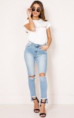 Quick Chat denim jeans in light wash