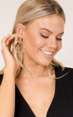 Just Like This earrings in gold