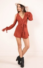 September Song playsuit in rust
