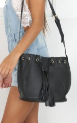 Cautionary Bag in black