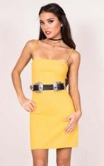 Halfway Gone Dress in yellow