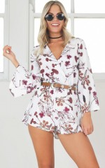 Cohen playsuit in white floral