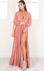 Vacay Ready Maxi Dress in pink print