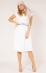 Louisiana Dress in white