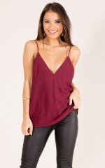 Boy Toy top in burgundy