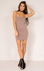 Just Float On dress in dark mocha