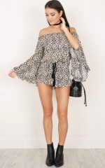 Leopard Love playsuit in leopard print