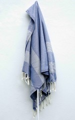 Ada turkish beach towel in blue stripe