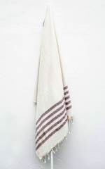 Ada turkish beach towel in plum stripe