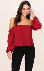 After Sundown top in wine