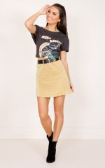 After The Rush Skirt in gold lurex