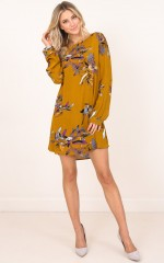 All About Me dress mustard