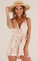 All Around You playsuit in peach print