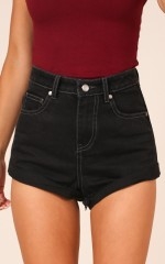 Ava Shorts in Black Denim