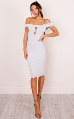 Samora Keyhole dress in ivory