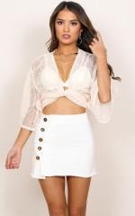 Being Me denim skirt in white