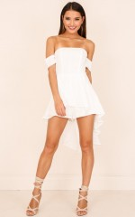 Better This Way playsuit in white