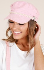 Boss Woman conductor hat in blush