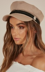 Boss Woman Conductor Hat in beige