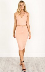 Girls Like Us two piece set in dusty pink