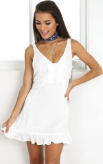Brandy dress in white