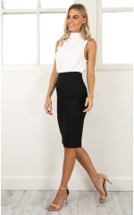 Claim It Back skirt in black
