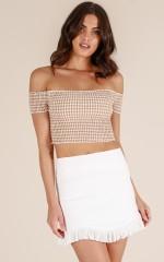 Candid Explorer skirt in white