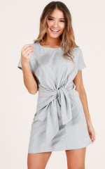 Cant Wait dress in grey