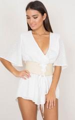 Caught Up corset belt in beige