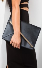 By My Side clutch in black