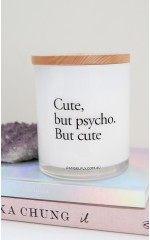 Cute But Psycho candle in grace