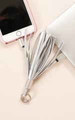 SmartTassle - Charging Cable in silver