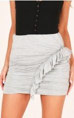 Cherry Sweet mini skirt in grey marle